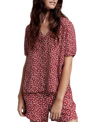 Gant D2. Summer Floral Blouse Iron Red