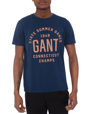 Gant D2. Summer Graphic Ss T-Shirt Insignia Blue