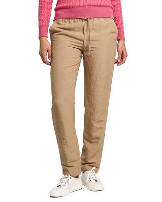 Gant D2. Summer Linen Pull-On Pant Dark Khaki