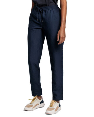 Gant D2. Summer Linen Pull-On Pant Marine