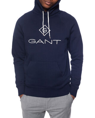 Gant Gant Lock Up Hoodie Evening Blue