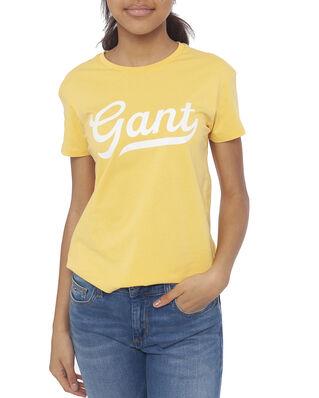 Gant Junior D1. Gant Script Logo Ss T-Shirt Mimosa Yellow