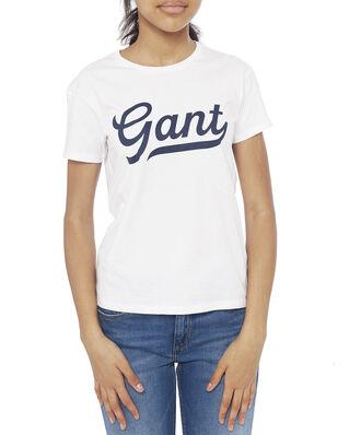 Gant Junior D1. Gant Script Logo Ss T-Shirt White
