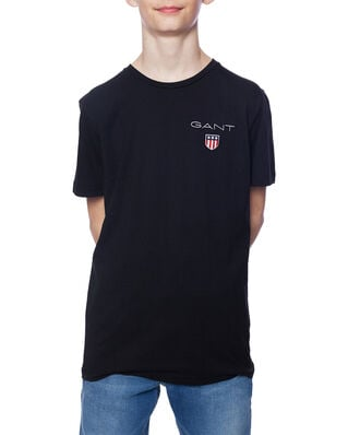 Gant Junior D1. Medium Shield Ss T-Shirt Black