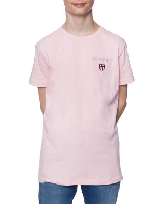 Gant Junior D1. Medium Shield Ss T-Shirt Preppy Pink