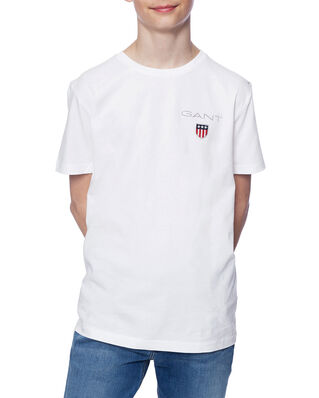 Gant Junior D1. Medium Shield Ss T-Shirt White