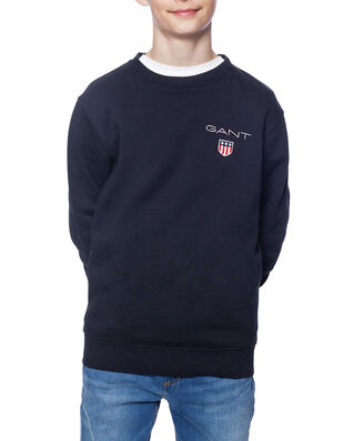 Gant Junior D1. Medium Shield Sweat C-Neck Black