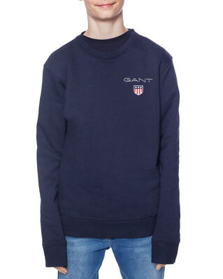 Gant Junior D1. Medium Shield Sweat C-Neck Evening Blue