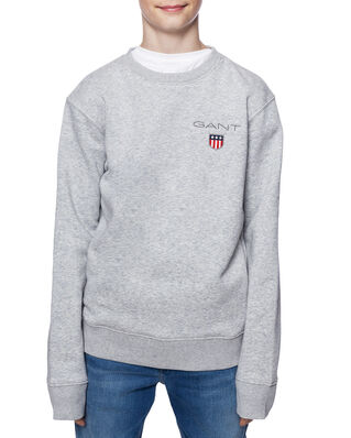 Gant Junior D1. Medium Shield Sweat C-Neck Light Grey Melange