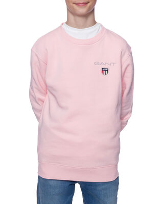 Gant Junior D1. Medium Shield Sweat C-Neck Preppy Pink