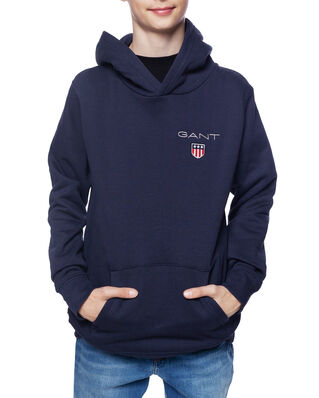 Gant Junior D1. Medium Shield Sweat Hoodie Evening Blue