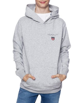 Gant Junior D1. Medium Shield Sweat Hoodie Light Grey Melange
