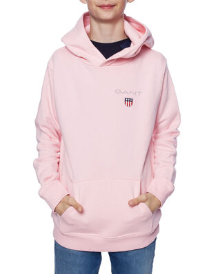 Gant D1. Medium Shield Sweat Hoodie Preppy Pink
