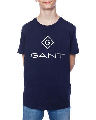 Gant Junior Gant Lock-Up Ss T-Shirt Evening Blue