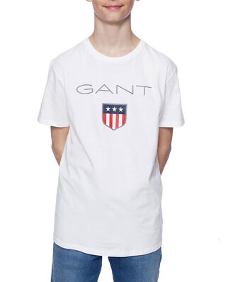 Gant Junior Gant Shield Logo Ss T-Shirt White