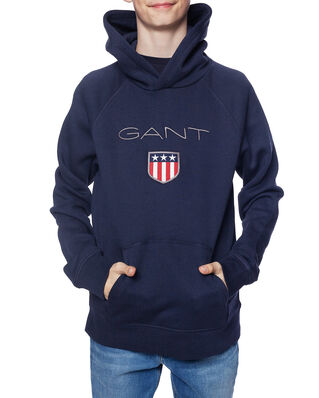 Gant Junior Gant Shield Logo  Sweat Hoodie Evening Blue