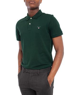 Gant Original Pique Ss Rugger Tartan Green