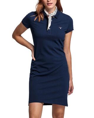 Gant The Original Pique Ss Dress Evening Blue