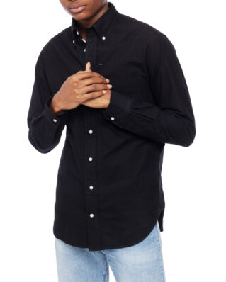 Gitman Vintage Black Flannel Long Sleeve Button Down Black