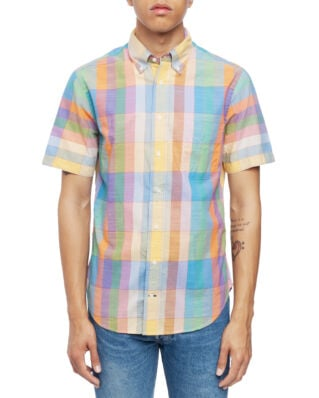 Gitman Vintage Short Sleeve Button Down Archive Grid Madras