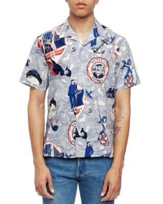 Gitman Vintage Short Sleeve Camp Shirt Lost At Sea