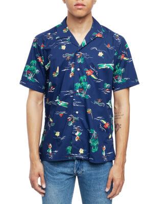 Gitman Vintage Short Sleeve Camp Shirt Navy Surf & Turf
