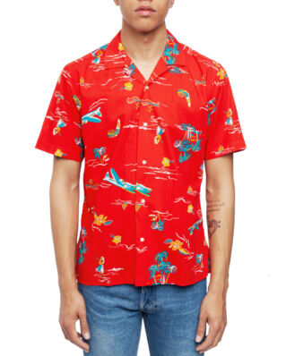 Gitman Vintage Short Sleeve Camp Shirt Red Surf & Turf