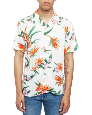 Gitman Vintage Short Sleeve Camp Shirt White Aloha