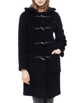 Gloverall Ladies Long Panelled Dufflecoat Black