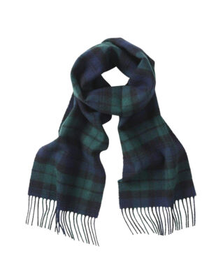 Gloverall Lambswool Scarf Navy Blackwatch