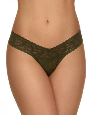Hanky Panky Low Rise Thong Signature Lace Woodland Green
