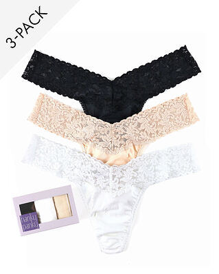 Hanky Panky 3-Pack Cotton Low Rise Thong