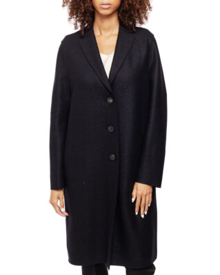 Harris Wharf London Women Overcoat Pressed Wool Black