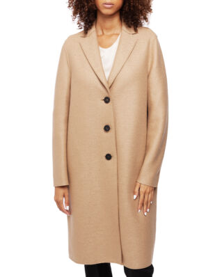 Harris Wharf London Women Overcoat Pressed Wool Tan