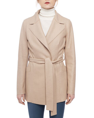 Harris Wharf London Women belted duster jacket Light Pressed Wool Sand