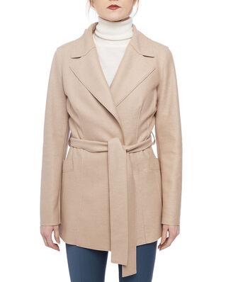 Harris Wharf London Women belted duster jacket Light Pressed Wool Sand
