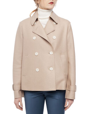 Harris Wharf London Women cropped trench Light Pressed Wool Sand