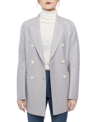Harris Wharf London Women long d.b. blazer Light Pressed Wool Cloud