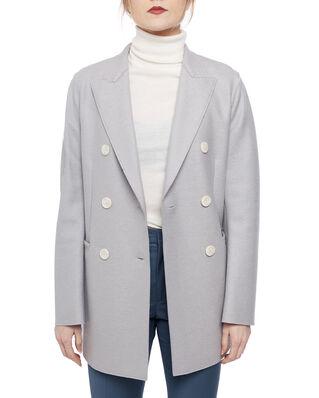 Harris Wharf London Women long d.b. blazer Light Pressed Wool Cloud