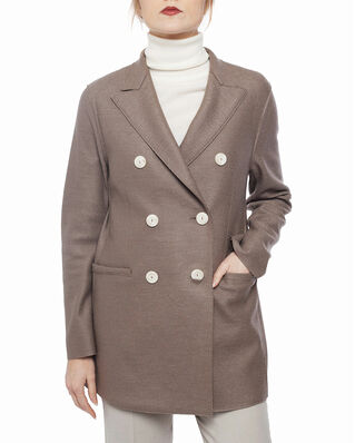 Harris Wharf London Women long d.b. blazer Light Pressed Wool Taupe