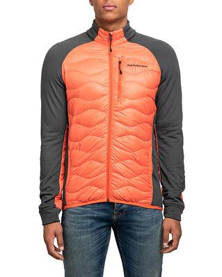 Peak Performance Helium Hybrid Jacket Zeal Orange