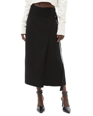 Helmut Lang Compact Wool Skirt Black