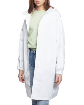Helmut Lang Hooded Raincoat White