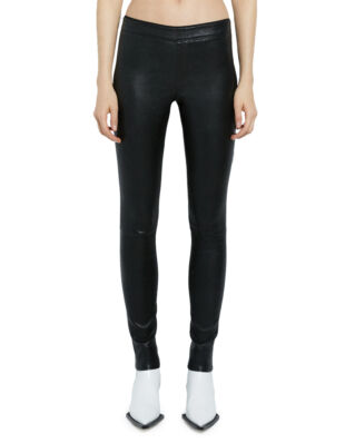 Helmut Lang Leather Leggings Stretch Black