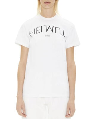 Helmut Lang Logo Hack Little Tee Chalk White