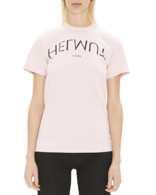 Helmut Lang Logo Hack Little Tee Rose Quartz