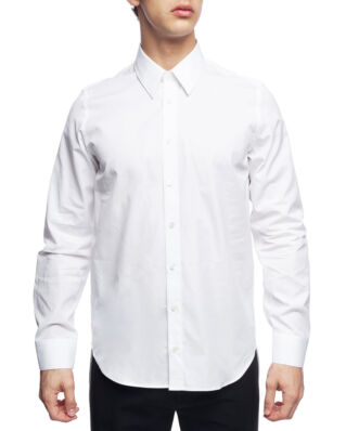Helmut Lang Printed Long Sleeve Shirt White/Silver