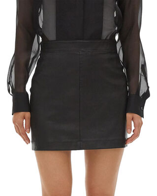 Helmut Lang Stretch Leather Mini Black
