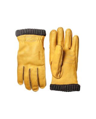 Hestra Deerskin Primaloft Rib Natur Yellow
