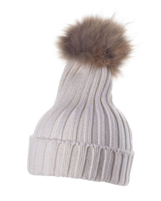Hollies Pom Pom Classic Hat White/Natural